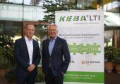 Hartmut Braun, Geschäftsführer LTI Motion und Gerhard Luftensteiner, CEO Keba (v.l.). (Bildquelle: Keba)