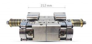 Platzsparende Ausführungen der Betätigungszylinder für Heißkanalsysteme, die Etagenwerkzeuge mit geringen Plattenhöhen ermöglichen. (Bildquelle: HRS Flow)