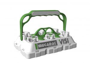Der Bottle-Buddy ist ein Flaschenträger aus Kunststoff, dessen Teile im Spritzguss hergestellt werden. Das Design beziehungsweise das CAD-Modell dafür hat der Erfinder des Flaschenträgers mit einer 3D-CAD/CAM-Software für den Werkzeug- und Formenbau entworfen. Die Werkzeuge dafür natürlich auch.