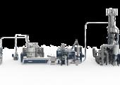 In Vacunite kombiniert Erema seine Vacurema Technologie mit der neu patentierten, Vakuum unterstützten Stickstoff SSP von Polymetrix. (Bildquelle: Erema)