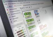 Monitor, ALS client, Maschinenhalle, Produktionsübersicht. (Bildquelle: Arburg)
