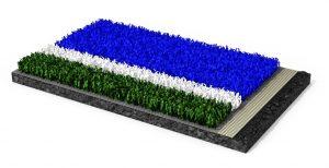 Der neue Hockeyrasen Poligras Tokyo GT  besteht  zu über 60 Prozent aus einem biobasierten Kunststoff. (Bildquelle: Polytan)