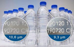 PET-Flaschen-Kennzeichnung mit CO2-Laser mit unterschiedlichen Wellenlängen (Bildquelle: Rea Jet)