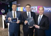 Präsentierten die Geschäftszahlen 2018 bei der Bilanz-Pressekonferenz in Düsseldorf (v.l.): CEO Dr. Markus Steilemann, Produktionsvorstand Dr. Klaus Schäfer und CFO Dr. Thomas Toepfer. (Bildquelle: Covestro)