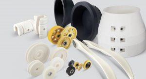 Formteile aus Polyamid-Guss: Innerhalb des Unternehmensbereiches Industrial wird die Röchling Industrial Xanten künftig das Kompetenzzentrum für Formguss sein. (Bildquelle: Röchling Industrial Xanten)