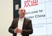 Rolf Sonderegger, CEO Kistler Gruppe, eröffnete den neuen Standort in Shanghai in einer feierlichen Zeremonie. (Bildquelle: Kistler Gruppe)