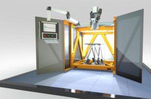 Kombination von  3D-Druck mit dem Bewegungssystem einer Werkzeugmaschine (Bildquelle: Fraunhofer IWU)