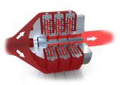 Verteilung der Polymerschmelze über die Filter und die Entfernung von Verunreinigungen. (Bildquelle: Nordson)