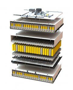 Die Li-Ionen-Heimspeicher der BMZ Gruppe verwenden ein PC-ABS-Blend, um die einzelnen Batteriezellen in einem sogenannten Zellhalter sicher zu platzieren. (bildquelle: BMZ)
