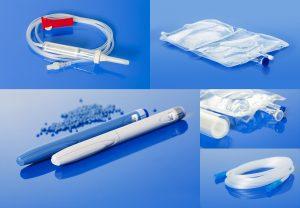 Verschiedene aus Melitek Compounds hergestellte Medizintechnikprodukte. (Bildquelle: Melitek)