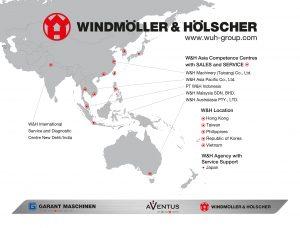 Die Übersichtskarte zeigt die Präsenz der Gruppe im Raum Asien/Pazifik.