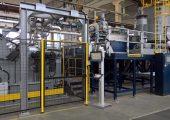 Blick auf den Extruder einer Cast-Folien-Anlage. (Bildquelle: Promix Solutions)