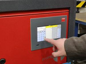 Die zu überprüfenden Regelzonen werden über den Touchscreen ausgewählt. (Bildquelle: Ralf Mayer, Redaktion Plastverarbeiter)