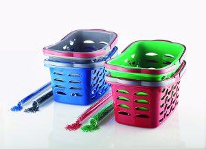 Attraktiv gestaltete Körbe aus 100 % Recyclingware werden vom Verbraucher gut angenommen. (Bildquelle: DSD).