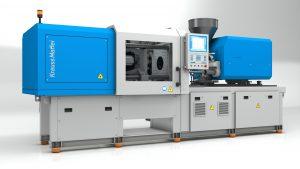 Die erste von Krauss Maffei in China produzierte Spritzgießmaschine hat ihre Premiere auf der Chinaplas 2019. (Bildquelle: Krauss Maffei)