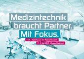 T4M – Technology for Medical Devices holt vom 7. bid 9. Mai 2019 die Technologien, Prozesse und Materialien für Produktion und Fertigung von Medizintechnik nach Stuttgart. (Bildquelle: Landesmesse Stuttgart)