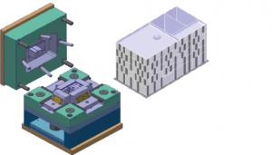 Neu zu entwickelndes Heatpipe-Werkzeug (links) und dazugehöriges Bauteil (rechts).