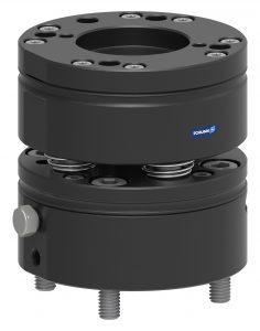 Das Ausgleichsmodul ist für Handlinggewichte bis 5 kg empfohlen und kann über den standardisierten ISO-50-Flansch ohne Adapterplatte schnell und einfach mit unterschiedlichsten Industrie- und Leichtbaurobotern verbunden werden. (Bildquelle: Schunk)
