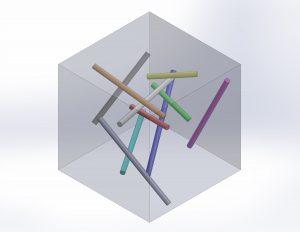 Elementweise Berücksichtigung der Fasermikrostruktur bei der Berechnung der anisotropen mechanischen Eigenschaften (Bildquelle: IKT)