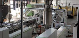 Extrusionslinie der Technikumsanlage bei Battenfeld-Cincinatti. (Bildquelle: BC Extrusion)