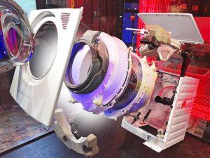 Explosionsmodell einer Beko-Waschmaschine. (Bildquelle: Krauss Maffei)