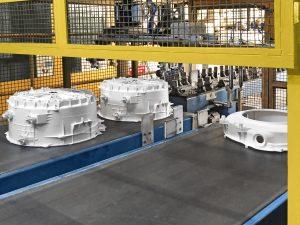 Der Automationsgrad im Werk beträgt 96 Prozent und soll weiter steigen. (Bildquelle: Krauss Maffei)