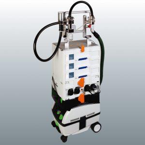 Partikelsaugextraktionssystem C-PS² zur Aufnahme von trockenen Kontaminationen von Oberflächen. (Bildquelle: Clean Controlling)