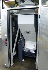 Technisches Herzstück der Kaffeekapsel-Zerkleinerungslinien sind die Schneidmühlen der Roto-Schneider-Baureihe RS 2400. (Bildquelle: Getecha)