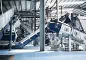 Der Zerkleinerer und die Waschkomponenten von Lindner sorgen für das ideale Korn für den anschließenden Extrusionsprozess.