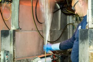 Glasfaserproduktion von Lanxess am Standort Kallo bei Antwerpen, Belgien. (Bildquelle: Lanxess)