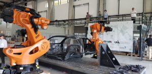 Durch Holo-Linsen betrachtet, geraten die Roboter mächtig in Bewegung. (Bildquelle: CCeV/MAI Carbon)