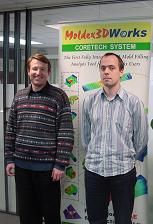 Simulationspioniere und Firmengründer: (v.l.) Dr. Reinhard Haag, der 2012 nach schwerer Krankheit verstarb, und Cristoph Hinse.