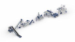 Systemlösung für das Post-Consumer Kunststoffrecycling (Bildquelle: Lindner)