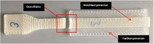 Schälprobekörper hergestellt aus PP-TPE-S. (Bildquelle: SKZ)
