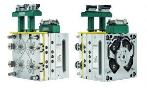 Je nach verwendetem LSR-Typ sind die wassergekühlten Kaltkanaldüsen mit verschiedenen Spitzenvarianten erhältlich. (Bildquelle: Ewikon)