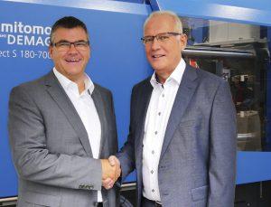 Siegfried Köhler (links) wurde zum 1. Oktober 2019 als Group CSO bei Sumitomt (SHI) Demag eingestellt. (Bildquelle: Sumitomo)