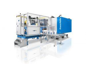 Die Spritzgießmaschine ist prädestiniert für große Verpackungs- und Logistiklösungen. (Bildquelle: Krauss Maffei)