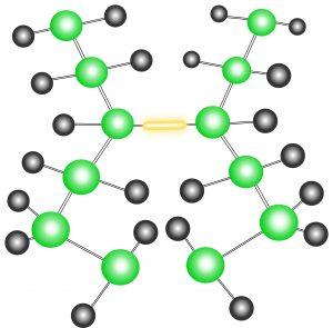 Upgrade für Kunststoffe - durch Bestrahlung mit Beta- oder Gammastrahlen entstehen in der Polymermatrix neue chemische Bindungen, die ein dreidimensionales Netzwerk mit verbesserten Eigenschaften bilden. (Bildquelle: BGS)