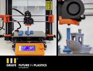 Ein Schwerpunkt der Forschungsbemühungen ist leitfähiges PLA-3D-Druck-Material. (Bildquelle: Grafe)