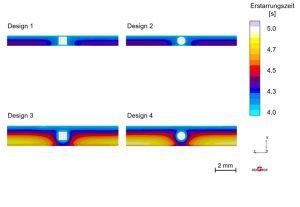 Lufteinschlüsse nach Leiterbahnfüllung (Bildquelle: IKV)