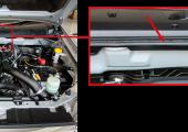 Abbildung 1: Spritzgegossene 2K-Dichtung im Übergang zwischen Motorraum und Frontscheibe. (Bildquelle: iStock)