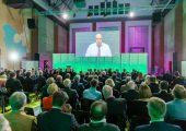 In der Video-Live-Schaltung kommunizierte Bundeswirtschaftsminister Peter Altmaier mit Teilnehmern des High-Level-Empfangs in Düsseldorf. (Bildquelle: Kunststoffland NRW)