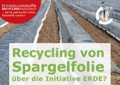 Unter dem Dach der IK Industrievereinigung Kunststoffverpackungen e.V. und in Kooperation mit RIGK als Systembetreiber organisiert ERDE über Sammelpartner deutschlandweit die getrennte Rücknahme und ökoeffiziente, stoffliche Verwertung gebrauchter Landwirtschaftsfolien aus PE-LD (Fraktion 1) und PE-LLD (Fraktion 2). Ab 2020 werden zusätzlich Ballennetze über die Initiative gesammelt. Lohnunternehmer und Landwirte sammeln die Erntekunststoffe und geben sie – besenrein und von grobem Schmutz befreit – gebündelt an einer Sammelstelle ab. (Bildquelle: Rigk)