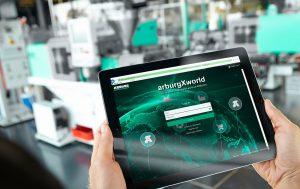 Das Kundenportal Arburg-X-World ist international in 18 Sprachen und mit neuen Apps und Funktionen verfügbar. (Bildquelle: Arburg)