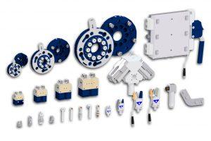 Ausblick auf weitere neue Greiferkomponenten im  Roboterhandbaukasten-Katalog. (Bildquelle: ASS)