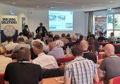 Der 21. Bensheimer Technologietag umfasste neben dem Vortragsprogramm (Bild) Führungen durch die Produktionsstätten von Synventive. (Bildquelle: Ralf Mayer/Redaktion Plastverarbeiter)