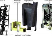 Multi-Material-Design vereint im Fupro-Demonstratorbauteil. (Bildquelle: TU Dresden/Forel)