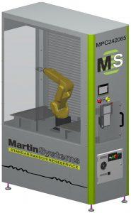 Die Zelle ist für das Teilehandling bei der Fertigung von Kleinserien und Serienteilen geeignet. (Bildquelle: Martin Systems)