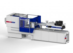 Eine Ecopower Express 160 produziert auf der Interplastica Verschlusskappen. (Bildquelle: Wittmann Battenfeld)