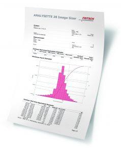 Auswertung der Partikelgrößenverteilung (Bildquelle: Fritsch)